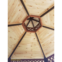 Беседка шестигранная закрыта КУПОЛ